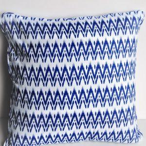 Ziggy Cushion Blue and White